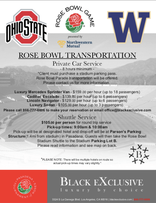 Rose Bowl Transportation